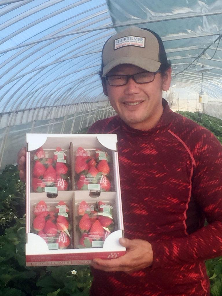 2019年、イチゴ初収穫